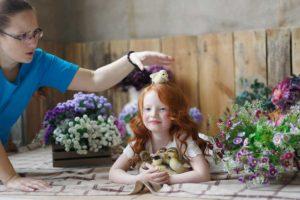 """модель на курсе """"Основы фотосъемки детей с животными"""""""