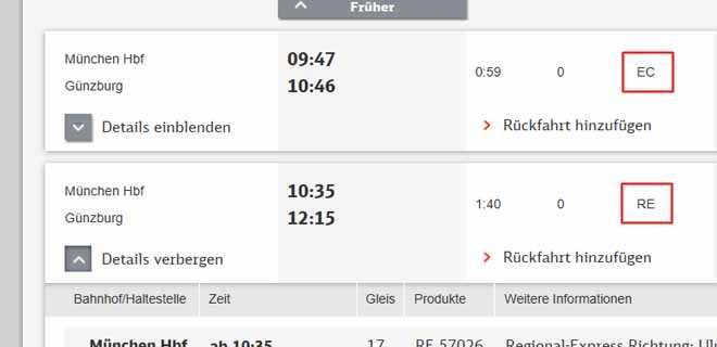 Расписание поездов в Германии.